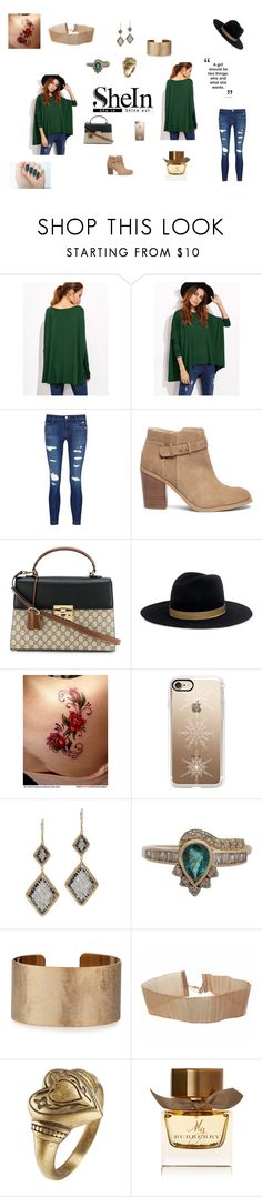 """""""Be You"""" by browncoat4ever ❤ liked on Polyvore featuring J Brand, Sole Society, Gucci, Janessa Leone, Casetify, Dana Kellin, Panacea, Etro and Burberry"""