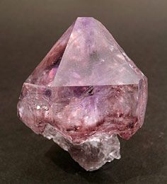 Amethyst scepter with inclusions on Quartz - Brazil / Mineral Friends <3