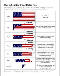 Folding Hacks - How to fold a Flag from The Joyful Organizer Cub Scouts Wolf, Girl Scouts, Daisy Scouts, Boy Scout Troop, Cub Scout Activities, American Heritage Girls, American Pride, I Love America, Eagle Scout