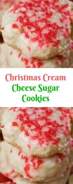 51 Ideas For Cookies Christmas Cream Cheese Cookie Dough Recipes, Easy Cookie Recipes, Cupcake Recipes, Dessert Recipes, Baking Recipes, Yummy Recipes, Cream Cheese Cookie Recipe, Cream Cheese Sugar Cookies, Sugar Cookies Recipe