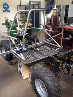 The start of the roll cage. The A pillar And B pillar hoops are now done.