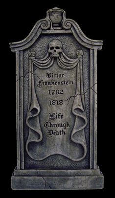 frankenstein gif | Halloweentown Store: Victor Frankenstein Tombstone