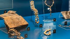 Mary Rose Rosary Beads.  The Mary Rose sank during the time when Henry VIII was banning Catholicism in England, but rosary beads weren't yet illegal. As the Mary Rose was the King's ship it's assumed that rosary beads were still in regular use at this time.