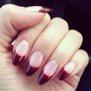 French Manicure Almond Nails Half Moons Ideas For 2019 Cute Nails, My Nails, Hair And Nails, French Nails, Vampire Nails, Manicure, Nagel Hacks, Pointy Nails, Oval Nails