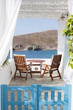Balcony in Milos, Greece