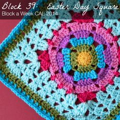 Block 39: Easter Day Square {Photo Tutorial} block a week cal 2014 Photo