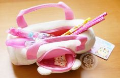 Adorable trousse à stylo peluche KAWAII en forme de sac de sport avec Korilakkuma de San-X ! ^O^  - www.chezfee.com boutique kawaii