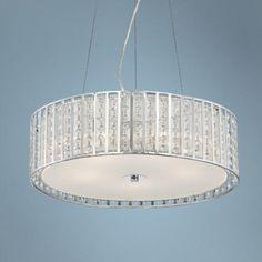 "Dazzle 5-Light 20"" Wide Crystal Drum Pendant Light"