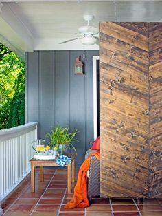Add some shade and create a bit of privacy with this stylish wooden screen. The only problem will be convincing your friends you made it!