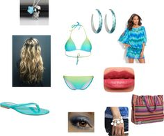 """Day At The beach"" by softballcutie12400 on Polyvore"