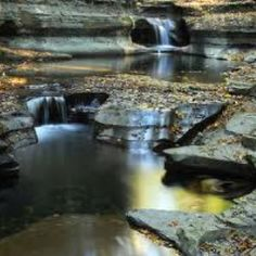 Buttermilk Falls park, taken on the Autumnal Equinox. Photograph by Michael King, Ithaca, NY. Buttermilk Falls, Waterfall Fountain, Water Pictures, Autumn Park, Exposure Photography, Beautiful Waterfalls, State Parks, Beautiful Places, Scenery