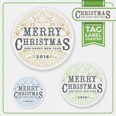 Christmas labels set Free Vector