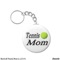 Black 3D Tennis Mom Keychain Sports Gifts, Mom And Grandma, White Elephant Gifts, Key Chains, Business Supplies, Tennis, Gifts For Dad, Cool Designs, Create Yourself