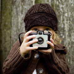 cute kid. cute camera.