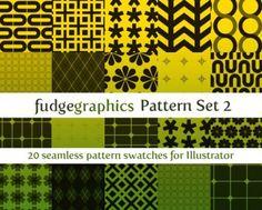 20 Geometric Shapes Vector Patterns Set - http://www.dawnbrushes.com/20-geometric-shapes-vector-patterns-set/