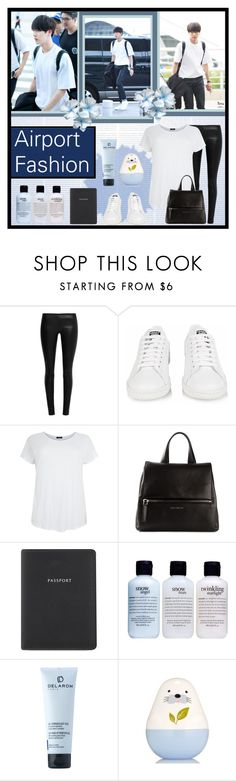 """#222 - Jin Airport Fashion 2"" by bangtan-life ❤ liked on Polyvore featuring The Row, adidas, Givenchy, Globe-Trotter, philosophy, kpop, bts, BangtanBoys and jin"