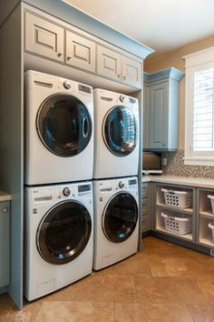 Two washers and dryers - 8 suites, kitchen, two powder rooms, pool towels, dining and kitchen linens. baskets for each room to store a second set of towels and linens.
