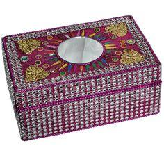 Hot Pink Elegant Handmade Jewelry Box