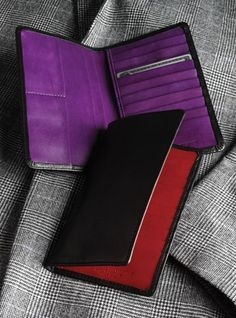 Breast Pocket Wallet with Contrasting Interior