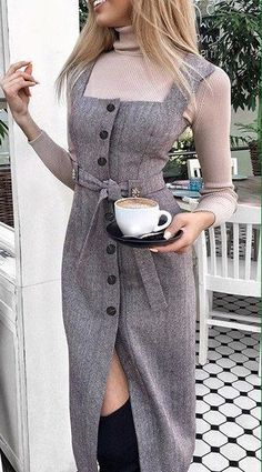 Really like these latest fashion trends 1749 How to wear fall fashion outfits with casual style trends Kem dưỡng ngày hada labo koi gokujyun 7 in 1 Nhật Bản Pretty look for autumn or winter Mod Fashion, Fashion Mode, Hijab Fashion, Fashion Dresses, Fashion Looks, Womens Fashion, Mode Outfits, Fall Outfits, Casual Dresses