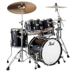 New & Factory Sealed Pearl Reference Pure Piano Black #103 Drum Set - 22x18 Bass Drum,  12x9 Tom and 13x10 Toms w/Optimount, 16x16 Floor Tom with Legs - FREE Humes & Berg Galaxy Drum bags -FREE Ship to USA - Ships to Alaska & Hawaii! http://www.musicforall.biz/