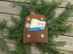 Leather Card Wallet Card Wallet Credit Card by MyLittleDiary
