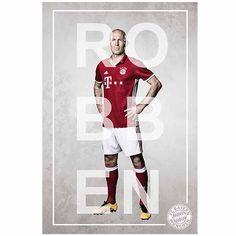 FC Bayern München Poster Arjen Robben