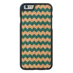 Green Shamrock Pattern iPhone 6 Case Carved® Cherry iPhone 6 Slim Case #iphone6 #iphone6s #pattern #iphone6case #iphone6scase