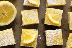 Coconut oil shortbread crust is baked up to tender perfection and topped with a luscious coconut cream lemon curd to make these vegan lemon bars. Vegan Dessert Recipes, Vegan Sweets, Vegetarian Recipes, Lemon Desserts, Healthy Desserts, Lemon Top, Vegan Lemon Bars, 16 Bars, Healthy Recipes