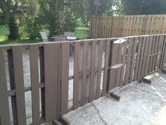 Pallet Fence.. Be kind of cool to put in the back at property line.. Paint it a fun color... Keep kids in yard..
