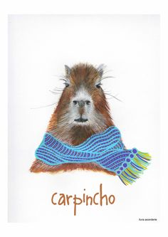 Día 1: El Carpincho #illustration #ilustracion #carpincho #capybara #acuarela #watercolor #lluviascendente