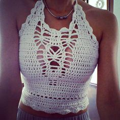 Cropped top Crochet by tchibi on Etsy