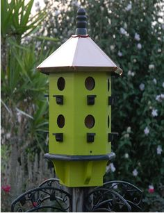 Bird House Woodland Copper Roof Apple Black House by BeeGracious, $265.00