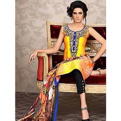 8dd2078efe Asim jofa lawn collection 2014 lawn print suit ajl010b Straight Trousers,  Pakistani Lawn Suits,