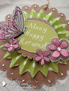 Verity Cards: Rosette gift tags.