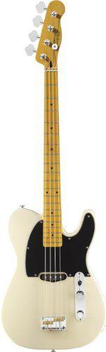 Squier by Fender Vintage Modified Telecaster Bass Guitar, Maple Fingerboard, Vintage Blonde