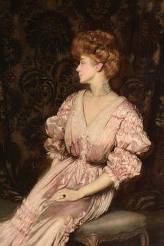Maria Hardouin D'Annunzio (1864-1954), duches of Gallese, wife of Italian writer and politician Gabriele D'Annunzio, prince of Montenevoso   Antonio de La Gandara (date unknown)