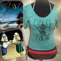 HPLIVE LAUGH LOVE DANCE CROP TEE Cute tee with dance theme.. Cropped so perfect for summer and wearing with those cute shorts or over a bathing suit NWT LIVE LAUGH LOVE Tops