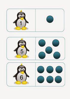 Τα νηπιάκια ξε-μπλοκάρουν : Κάποιες από τις μαθηματικές μας δραστηριότητες :  ... Toddler Learning Activities, Preschool Lessons, Montessori Activities, Kids Learning, Mathematics Pictures, All About Penguins, Maths Paper, Polo Norte, Simple Math