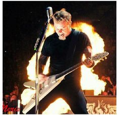 James Hetfield of Metallica, love his guitar playing and lyrics so much!