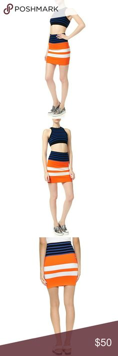 T Alexander Wang striped skirt Store return! Please zoom in Pictures #5 & #6 - front of skirt Pictures #7 & #8 - back of skirt T by Alexander Wang Skirts Mini