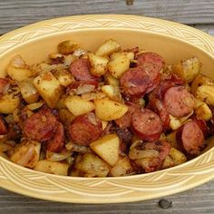 Kielbasa and Potatoes Recipe--Yummy! Will definitely make again (good camping recipe, too). MRB