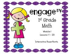 These PowerPoints are designed to support the Engage NY, First Grade Math Curriculum. The PowerPoints go along with your curriculum. They are a visual for the students, and they help the teacher keep the lesson flowing. It is a very effective teaching tool, which includes the Fluency Practice, Application Problem, Concept Development, and the Student Debrief.These PowerPoints are for Module 1, Lessons 11 - 20.