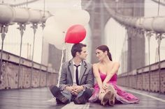Engagement session on the Brooklyn Bridge. Should have done with with @Erin Bethea and Bill's!
