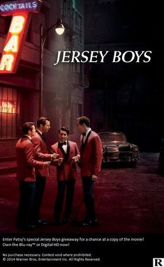Jersey Boys - Certificate 15 Really good film about the 4 Seasons Clint Eastwood, Jersey Boys, Warner Bros, Sky, Movies, Films, Concert, Movie Posters, Certificate