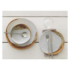 Habitat ELZORA 12 piece dining set - £70  Elzora dinnerware is a distinctive design that combines a matt finish with a glossy, salt-glazed rim and is exclusive to Habitat. The Elzora range hand-dipped glazing process means that no two pieces are alike.