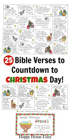 One my most popular Christmas posts is the set of 24 cards I created several years ago that tell a little piece of the Christmas story each day (you can see them HERE). I love those cards, but I wanted to make a set that was a bit more kid-friendly (the earlier printable was written …
