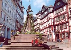 When I came to this monument, I realized it was the one on the placque on my wall in my German room. Now I have my picture standing next it on the wall, too! The city looked like this through the dozens of streets! Most Romantic Places, Wonderful Places, Beautiful Places, Hessen Germany, Places To See, Places Ive Been, Frankfurt, Moving To Germany, Picture Stand