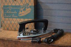 1957 Working ElectricTravel Iron Never Used Knapp Monarch Very Sleek Design St Louis Original Box Retro Home Decor I Ship Internationally