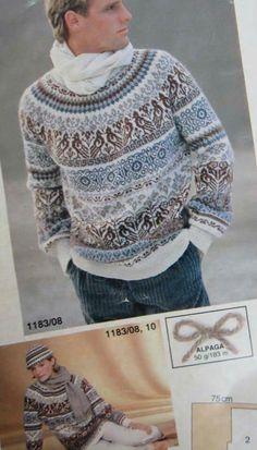 Anna Fair Isle Knitting Patterns, Fair Isle Pattern, Knitting Charts, Sweater Knitting Patterns, Knitting Designs, Knit Patterns, Punto Fair Isle, Pinterest Crochet, Norwegian Style